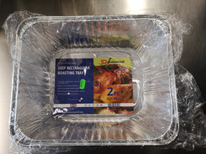 Aluminium Foil Deep Rectangular Roasting Tray