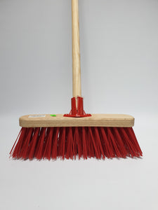 "12"" Red PVC Sweeping Brush"