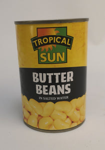 Tropical Sun Butter Beans in Salted Water