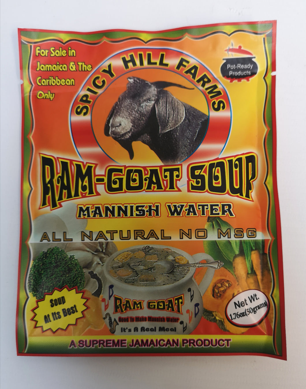 Spicy Hill Farms Ram-Goat Soup