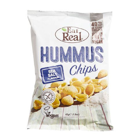 Eat Real Hummus Chips Sea Salt Flavour 45g