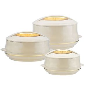 Olympic Gold 3Pc Insulated Casserole