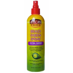 African Pride Braid Sheen Spray Extra Shine 355ml