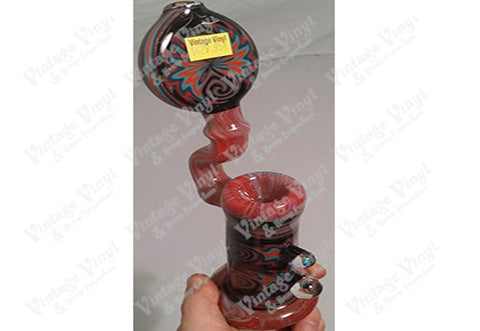Custom Red Swirl Art Sherlock Bubbler