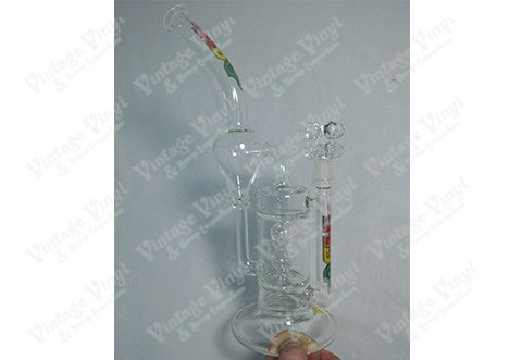 HBG Double Ball Slit Perc Recycler Rig