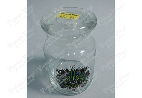 Third Eye Leaf Glass Jar