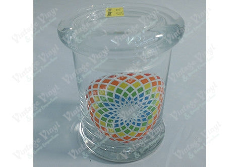 Floral Spiral Glass Jar