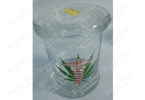 Medical Leaf Glass Jar