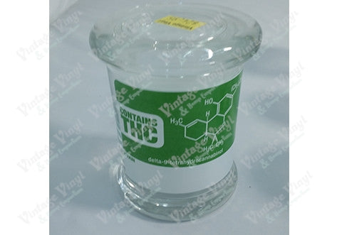 Contains THC Glass Jar