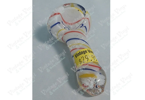 White Pipe With Red Blue And Yellow Swirl