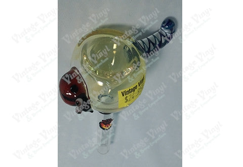 Clear Yellow With Lady Bug 12mm Bowl