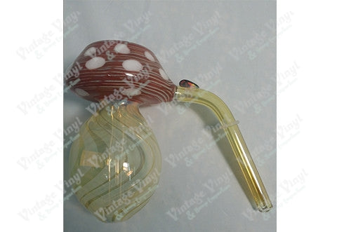 Red and Yellow Mushrom 9mm Bubbler Bowl