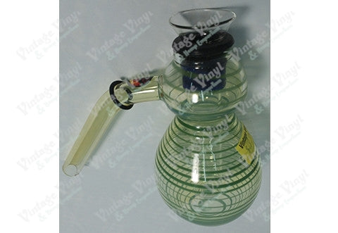 Clear and Green Striped 12mm Bubbler Bowl