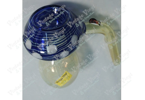 Yellow with Blue Mushroom 12mm Bubbler Bowl