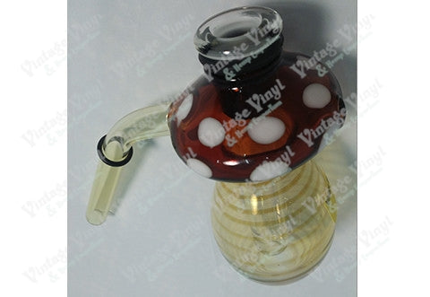 Yellow and Red Mushroom 12mm Bubbler Bowl