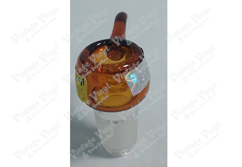 Orange 18mm Bowl with Built In Glass Screen
