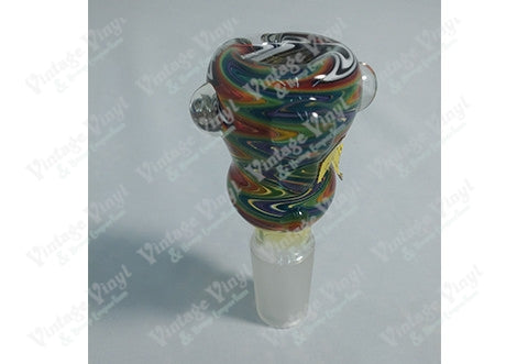 Rainbow Zig Zag Striped 18mm Bowl