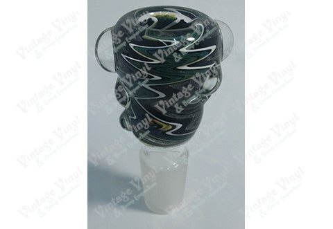 Black Green and White Striped 18mm Bowl
