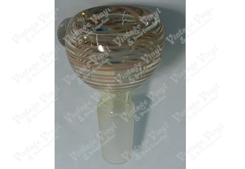 Clear and Brown Striped 14mm Bowl