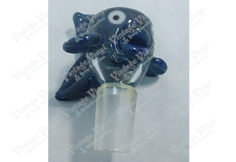 Blue Clear and Purple Fish 14mm Bowl
