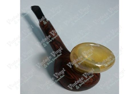 Wood Pipe With Yellow Glass Top