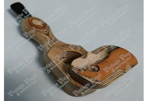 Two toned Wooden Pipe With Swivel Cap and Black Wood Mouth Peice