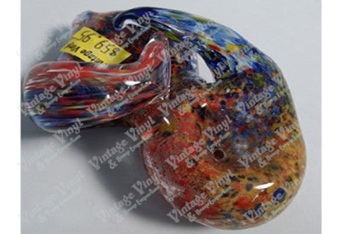 Red Blue Yellow and Orange Speckled Pipe