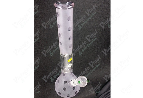Frosted Tint Straight Tube w/ Ice Catcher and Glass on Glass Bowl