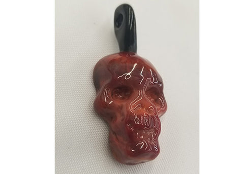 Custom Glass Skull Glass Carb and Pendant