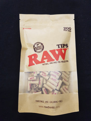 RAW Pre Rolled Unbleached Tips