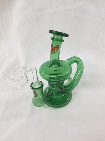 "Red Eye Tek 6"" Tall Revolver Klein Concentrate Recycler W/UFO Perc & Quartz Banger"