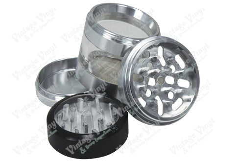 "Kannastor Clear Top 2.5"" 4 Piece Grinder/Sifter/Storage"