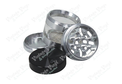 "Kannastor Solid Top 2.5"" 4 Piece Grinder/Sifter/Storage"