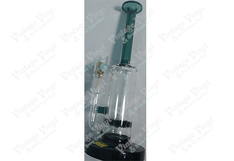 Grav Labs Clear and Green Sprocket Perc Smoke Accent Rig