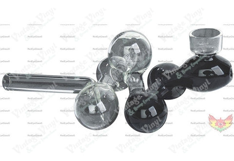 "6"" Long Black & Clear Molecule Pipe"