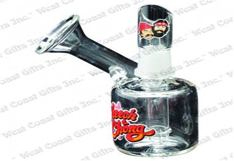 "Cheech & Chong Glass 5"" Tall Los Morpions Concentrate Bubbler w/Flared Mouthpiece and 14mm Joint"