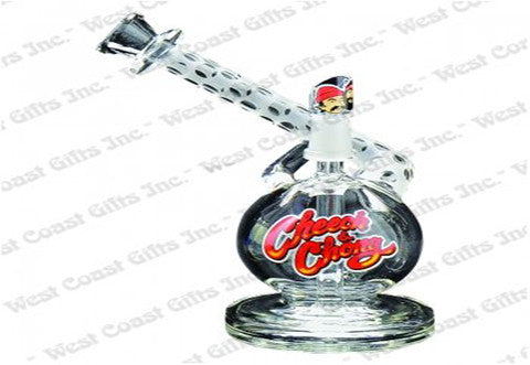 "Cheech & Chong Glass 6"" Tall Nice Dreams Concentrate Bubbler w/10mm Joint"