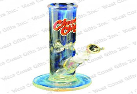 "Cheech & Chong Glass 9"" Tall 7mm Thick Herbie Beaker Tank Tube w/14mm Joint"