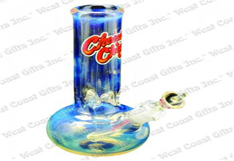 "Cheech & Chong Glass 9"" Tall 7mm Thick Ralph Bubble Tank Tube w/14mm Joint"