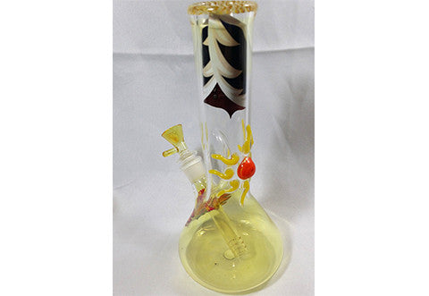 Red Eye 10 Inch Yellow Sun Fumed Beaker