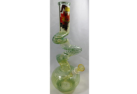 "Red Eye Glass 14"" Clear Swirled Triple Zong w/G-on-G Pull Out"