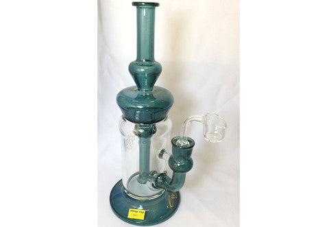 Envy Glass Teal UV reactive Recycler