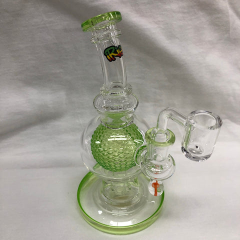 "Irie 7"" Tall Aquatex Ball Rig With Mushroom Marble"