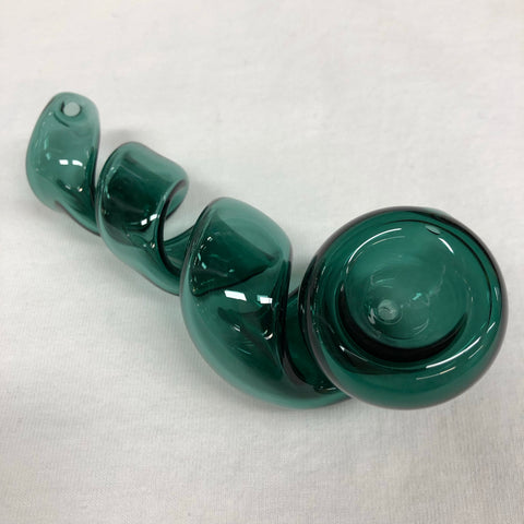 "Corkscrew 4.5"" Glass Handpipe Teal"