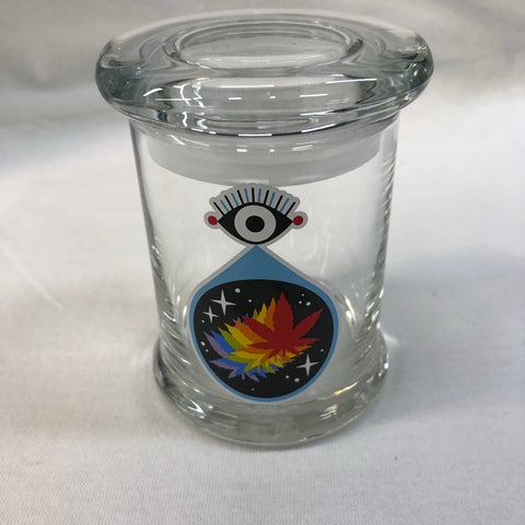 All Seeing Leaf Glass Jar