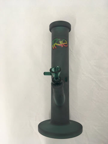 "iRie 12"" Tall Frosted Straight Tube Glass Bong"