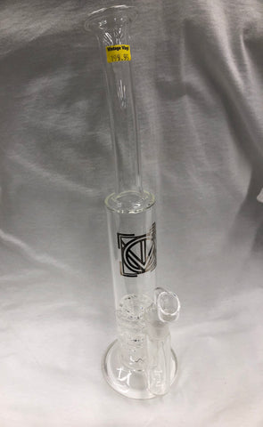 "16"" Tall Elevate Double Turbine Rig w/ Glass Banger"