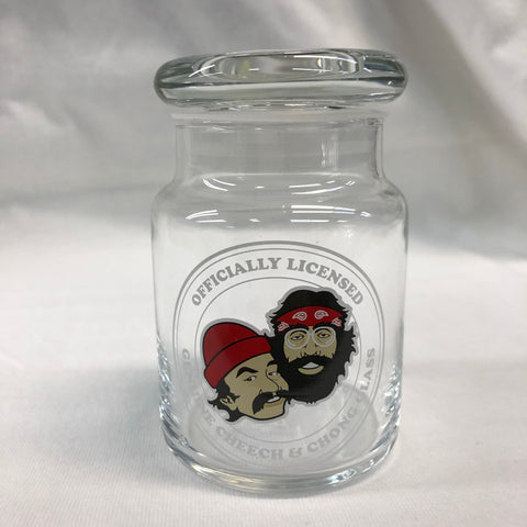 Cheech & Chong Crest Glass Jar