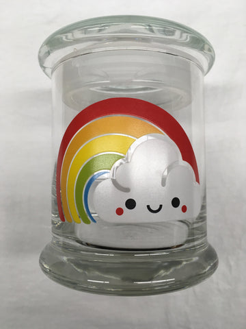 Rainbow Glass Jar