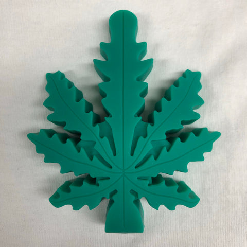 "LIT Silicone 4"" Leaf Hand Pipe with Glass Bowl"